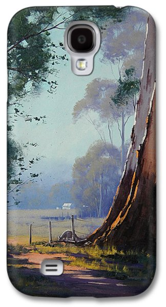 Shed Paintings Galaxy S4 Cases - Australian Farm Painting Galaxy S4 Case by Graham Gercken