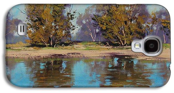 Beautiful Creek Paintings Galaxy S4 Cases - Australian River Galaxy S4 Case by Graham Gercken