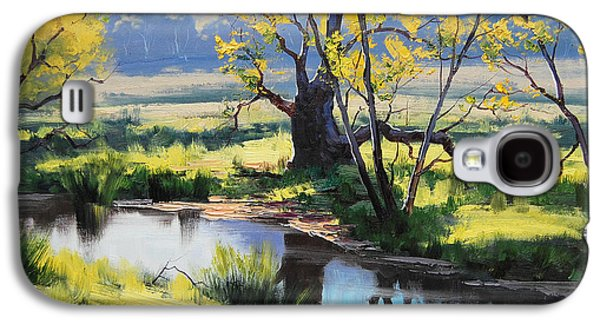 Beautiful Creek Paintings Galaxy S4 Cases - Australian River Painting Galaxy S4 Case by Graham Gercken