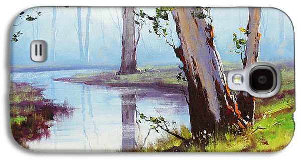 Beautiful Creek Paintings Galaxy S4 Cases - Australian Trees Painting Galaxy S4 Case by Graham Gercken
