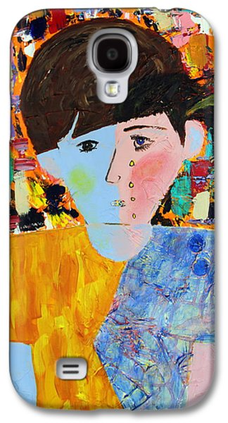 Disorder Paintings Galaxy S4 Cases - Autism - Child and Mother Galaxy S4 Case by Carmencita Balagtas