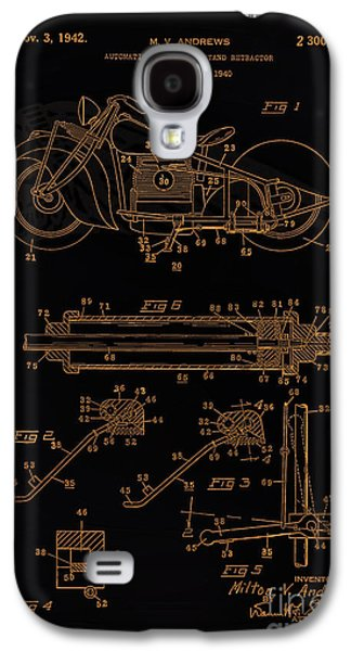 Drawing Of The Factory Galaxy S4 Cases - Automate Motorcycle Stand Retractor Blk Brown Galaxy S4 Case by Brian Lambert