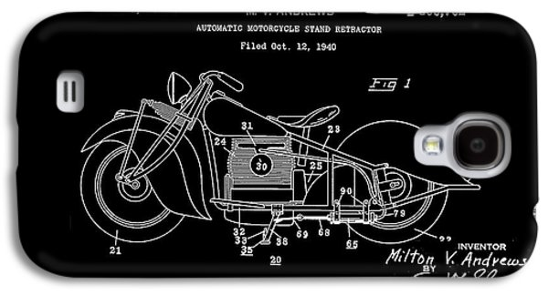 Drawing Of The Factory Galaxy S4 Cases - Automate Motorcycle Stand Retractor.White Galaxy S4 Case by Brian Lambert
