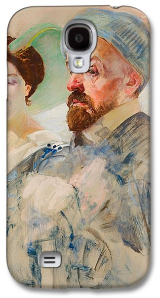 Women Together Paintings Galaxy S4 Cases - Autoportent Galaxy S4 Case by Jacek Malczewski