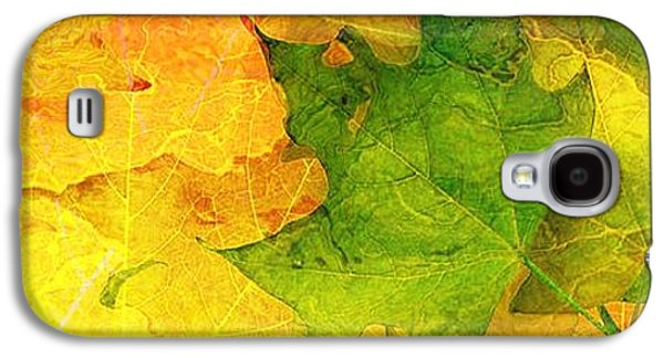 Abstract Digital Galaxy S4 Cases - Autum Leaves Galaxy S4 Case by Elizabeth McTaggart