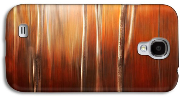 Autumn Art Galaxy S4 Cases - Autumn Abstract Galaxy S4 Case by Magda  Bognar