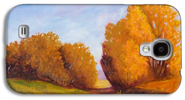 Tangerine Paintings Galaxy S4 Cases - Autumn Afternoon Galaxy S4 Case by Nancy Merkle