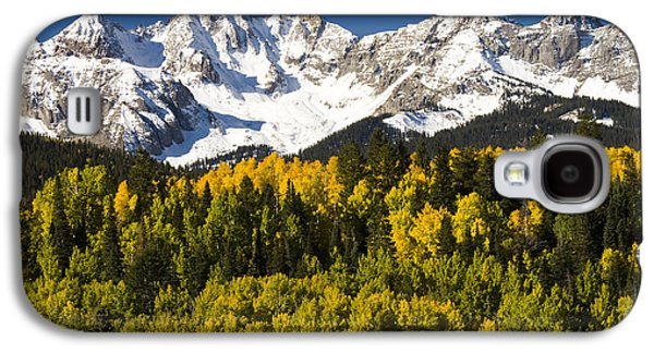 Mountain Photographs Galaxy S4 Cases - Autumn And Snow Covered Peaks North Galaxy S4 Case by Tom Vezo