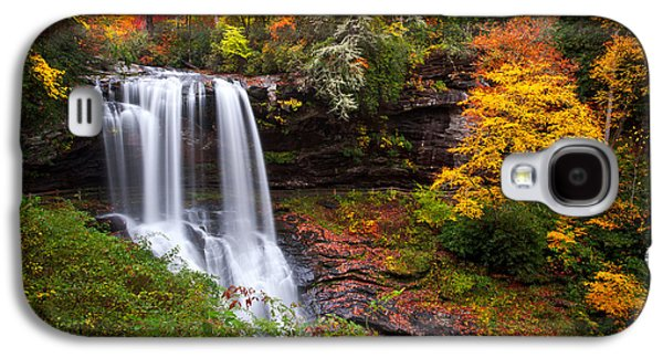 Autumn Landscape Photographs Galaxy S4 Cases - Autumn at Dry Falls - Highlands NC Waterfalls Galaxy S4 Case by Dave Allen