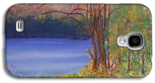 Autumn Landscape Pastels Galaxy S4 Cases - An Autumn Day at Cary Lake Galaxy S4 Case by David Patterson