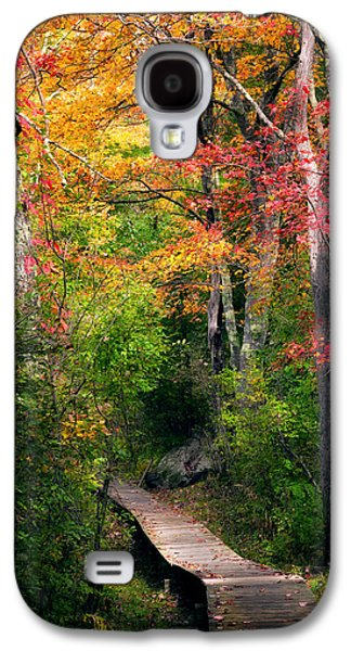 Woodland Scenes Galaxy S4 Cases - Autumn Boardwalk Galaxy S4 Case by Bill  Wakeley