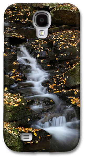 Beautiful Creek Galaxy S4 Cases - Autumn Cascade at Chesterfield Gorge - New Hampshire Galaxy S4 Case by Juergen Roth