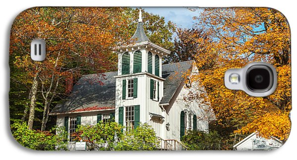 Autumn In The Country Galaxy S4 Cases - Autumn Church Galaxy S4 Case by Bill  Wakeley