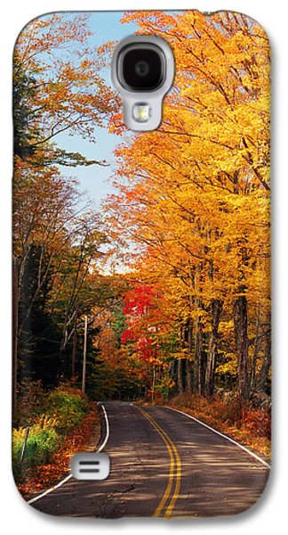 Reflections In River Galaxy S4 Cases - Autumn Country Road Galaxy S4 Case by Joann Vitali