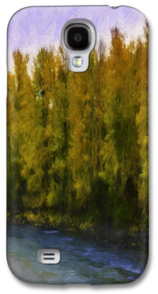 Nature Abstracts Galaxy S4 Cases - Autumn Creek Galaxy S4 Case by Jean OKeeffe Macro Abundance Art