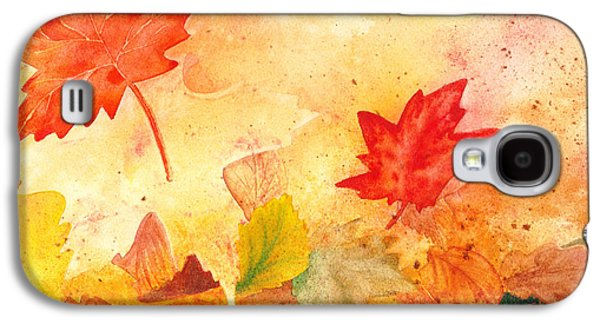 Maple Season Paintings Galaxy S4 Cases - Autumn Dance Galaxy S4 Case by Irina Sztukowski