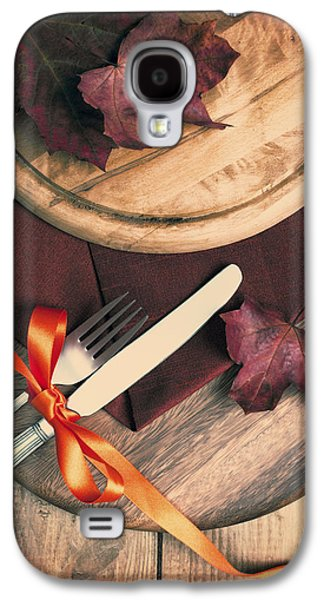 Pine Cones Photographs Galaxy S4 Cases - Autumn Dining Galaxy S4 Case by Amanda And Christopher Elwell