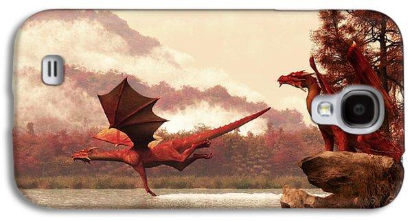 Autumn Dragons Galaxy S4 Case by Daniel Eskridge