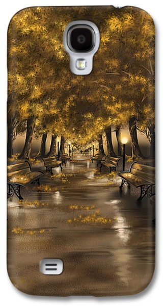 Autumn Landscape Galaxy S4 Cases - Autumn evening Galaxy S4 Case by Veronica Minozzi