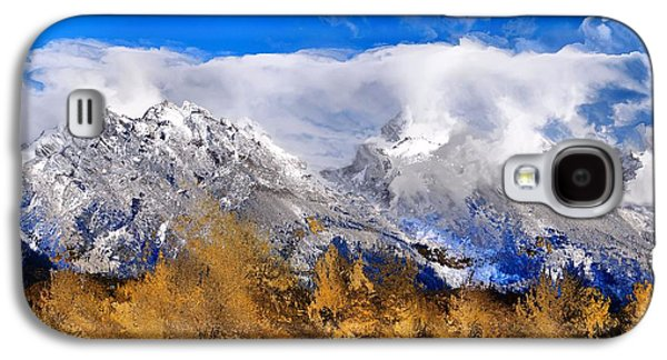 Snow-covered Landscape Digital Art Galaxy S4 Cases - Autumn Explosion In Grand Teton National Park Galaxy S4 Case by Dan Sproul