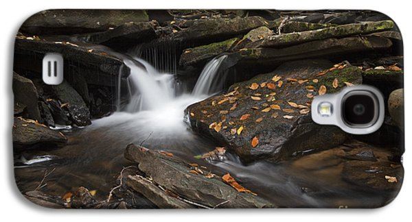 Autumn Leaf On Water Galaxy S4 Cases - Autumn Falls Galaxy S4 Case by John Stephens