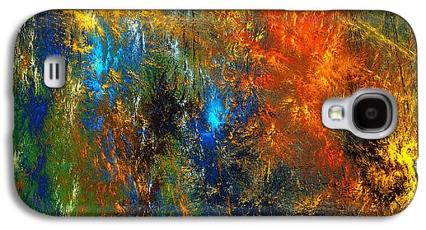 Abstract Digital Art Galaxy S4 Cases - Autumn Fantasy 1013 Galaxy S4 Case by David Lane