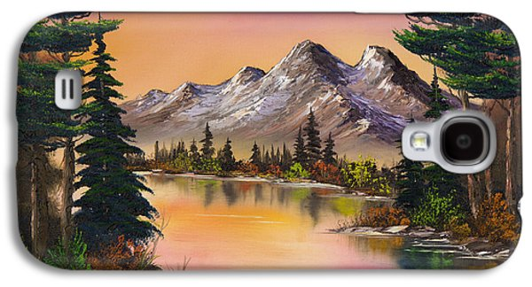 Sawtooth Mountain Paintings Galaxy S4 Cases - Mountain Fantasy Galaxy S4 Case by C Steele
