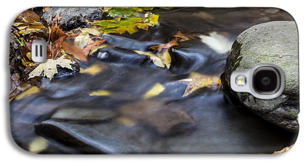 Autumn Leaf On Water Galaxy S4 Cases - Autumn Flow Galaxy S4 Case by Andrew Pacheco