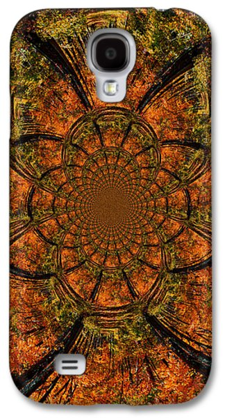 Nature Scene Mixed Media Galaxy S4 Cases - Autumn Forest Galaxy S4 Case by Dan Sproul