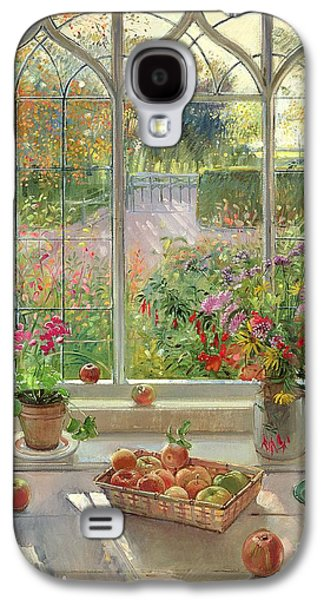 Ledge Galaxy S4 Cases - Autumn Fruit and Flowers Galaxy S4 Case by Timothy  Easton
