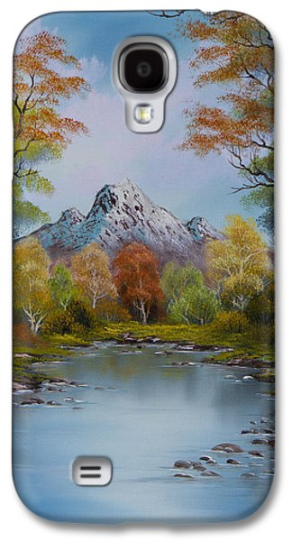 Bob Ross Paintings Galaxy S4 Cases - Ready for Fall Galaxy S4 Case by C Steele