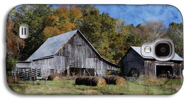 Tennessee Hay Bales Galaxy S4 Cases - Autumn in Tennessee Galaxy S4 Case by Benanne Stiens