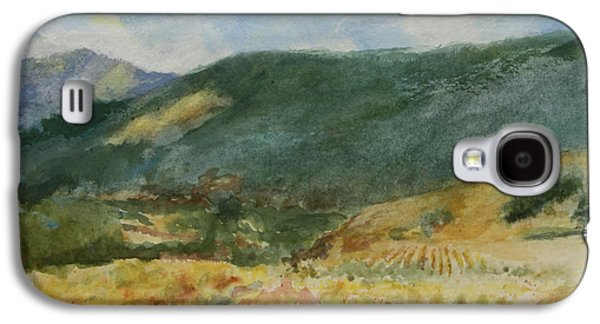 Vineyard In Napa Galaxy S4 Cases - Laboring in the Vineyards  Galaxy S4 Case by Maria Hunt