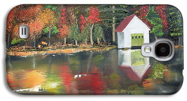 Boaters Galaxy S4 Cases - Autumn - Lake - Reflecton Galaxy S4 Case by Jan Dappen