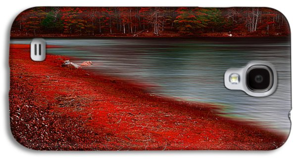 Pond In Park Galaxy S4 Cases - Autumn Land Galaxy S4 Case by Lourry Legarde