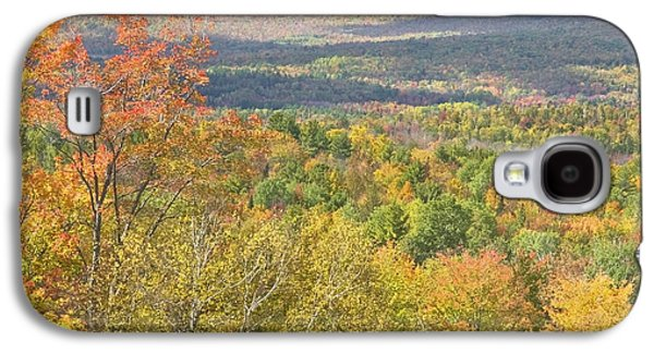 Maine Mountains Galaxy S4 Cases - Autumn Landscape Mount Blue State Park Weld Maine Galaxy S4 Case by Keith Webber Jr