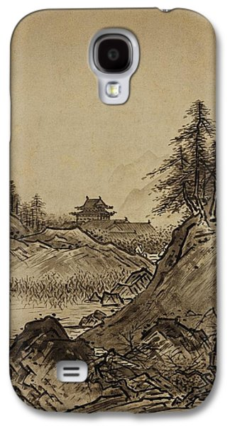 Autumn Landscape Drawings Galaxy S4 Cases - Autumn Landscape Sesshu Toyo 1496 Galaxy S4 Case by Movie Poster Prints