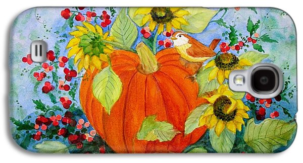 Sunflower Patch Galaxy S4 Cases - Autumn Galaxy S4 Case by Laura Nance
