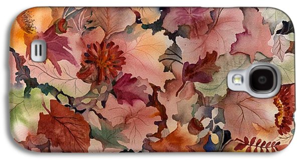 Forest Floor Galaxy S4 Cases - Autumn Leaves and Flowers Galaxy S4 Case by Neela Pushparaj
