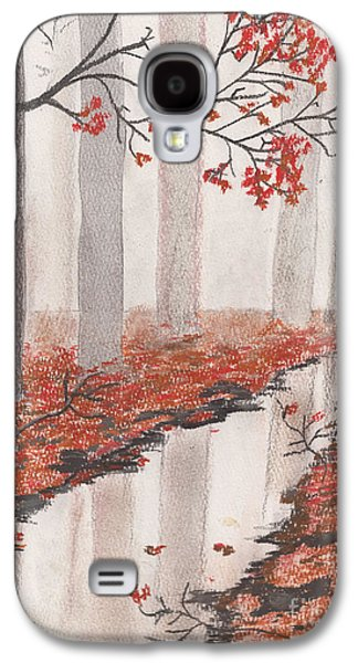 Fog Mist Pastels Galaxy S4 Cases - Autumn Leaves Galaxy S4 Case by David Jackson