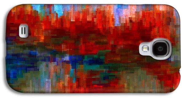 Geometric Digital Art Galaxy S4 Cases - Autumn Leaves Galaxy S4 Case by Jack Zulli