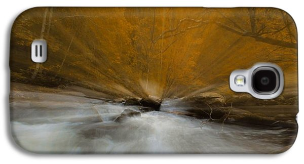 Autumn Leaf On Water Galaxy S4 Cases - Autumn Light On Little River Galaxy S4 Case by Dan Sproul