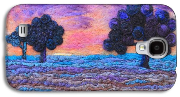 Autumn Landscape Tapestries - Textiles Galaxy S4 Cases - Autumn Meadow Sunset Galaxy S4 Case by Michelle Bowers