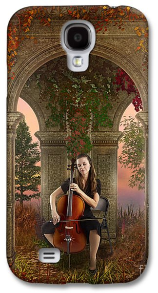 Contemplative Mixed Media Galaxy S4 Cases - Autumn Melody Galaxy S4 Case by Bedros Awak