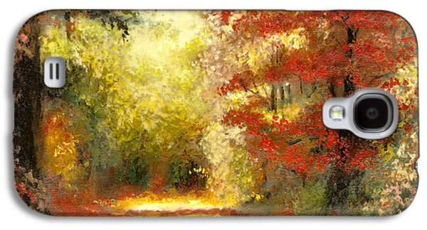 Maple Season Paintings Galaxy S4 Cases - Autumn Memories Galaxy S4 Case by Melissa Herrin