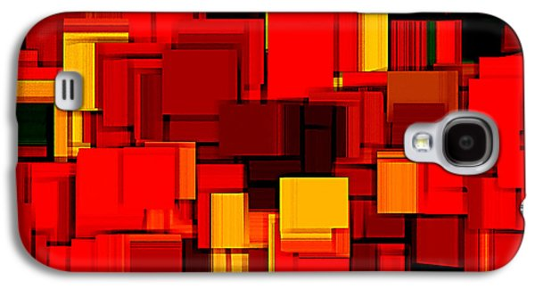 Modern Abstract Galaxy S4 Cases - Autumn Modern Abstract XV Galaxy S4 Case by Lourry Legarde