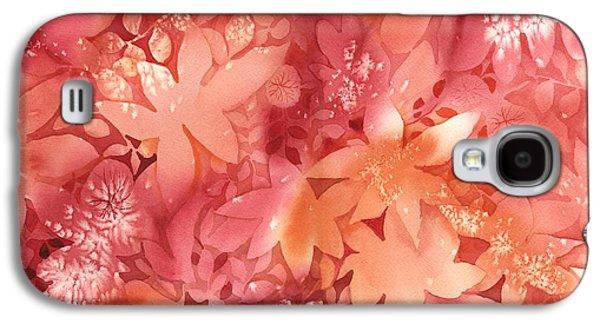 Forest Floor Galaxy S4 Cases - Autumn Monochrome Galaxy S4 Case by Neela Pushparaj