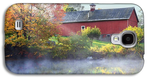 Old Barns Galaxy S4 Cases - Autumn Morn Galaxy S4 Case by Bill  Wakeley