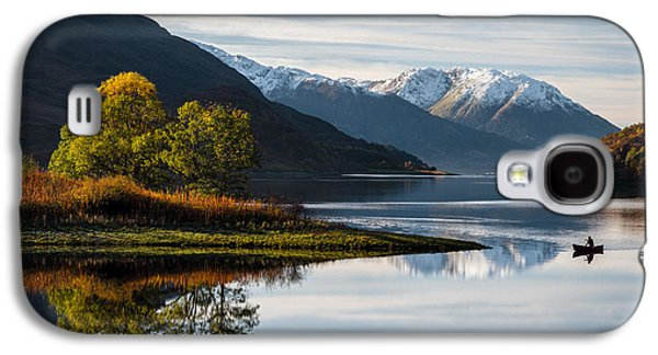 Snow Capped Galaxy S4 Cases - Autumn on Loch Leven Galaxy S4 Case by Dave Bowman