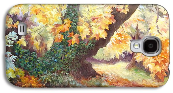 Change Paintings Galaxy S4 Cases - Autumn on the Darent Galaxy S4 Case by Cristiana Angelini